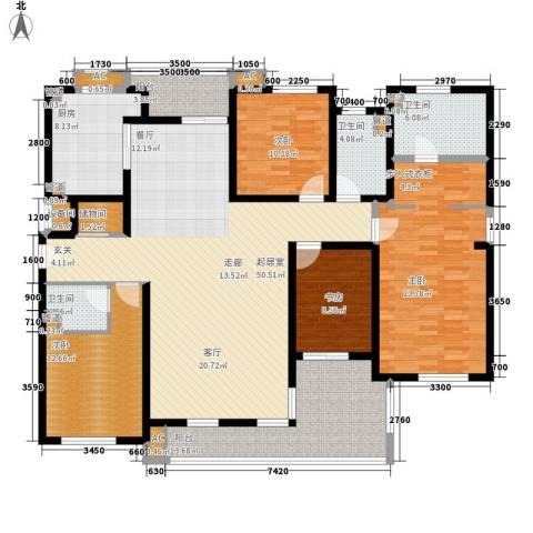 盘景苑4室0厅3卫1厨148.49㎡户型图