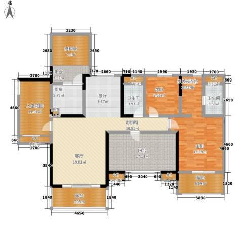 保利星座1室0厅2卫1厨140.28㎡户型图