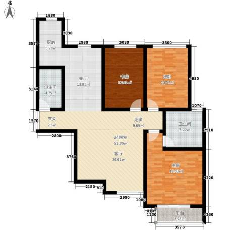 锦城3室0厅2卫0厨126.00㎡户型图