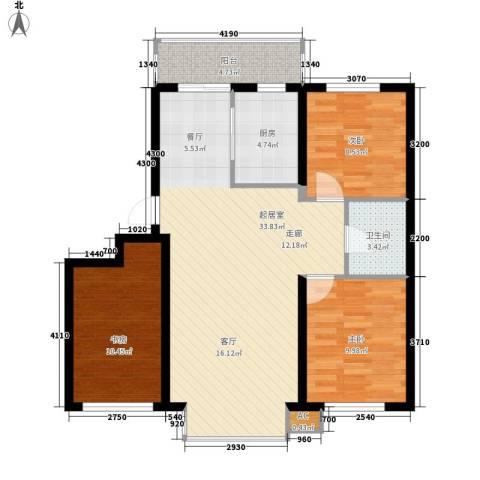阳光嘉城三期3室0厅1卫1厨85.93㎡户型图