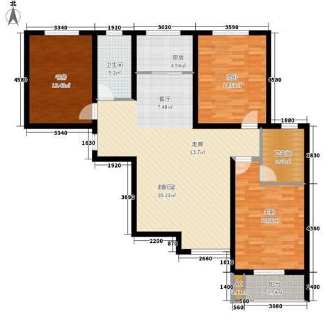 锦城3室0厅2卫1厨117.00㎡户型图