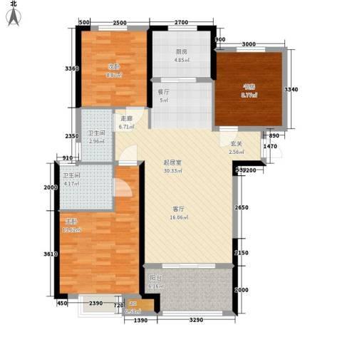 武机宿舍3室0厅2卫1厨114.00㎡户型图