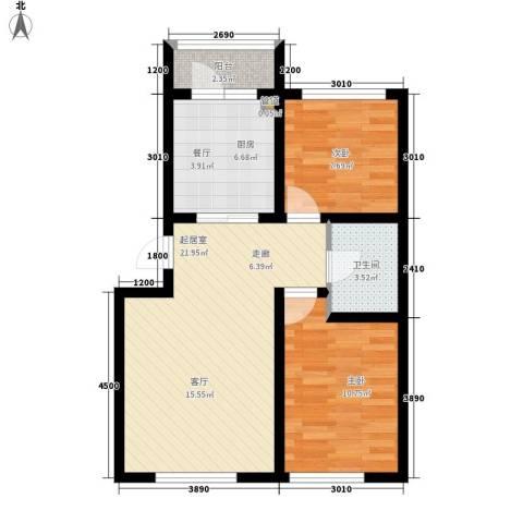 阳光嘉城三期2室0厅1卫1厨61.75㎡户型图