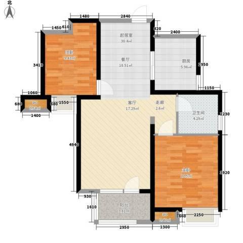 武机宿舍2室0厅1卫1厨96.00㎡户型图