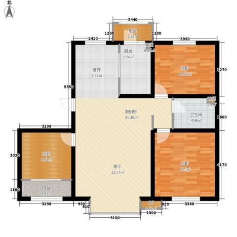 阳光嘉城三期3室1厅1卫1厨103.83㎡户型图