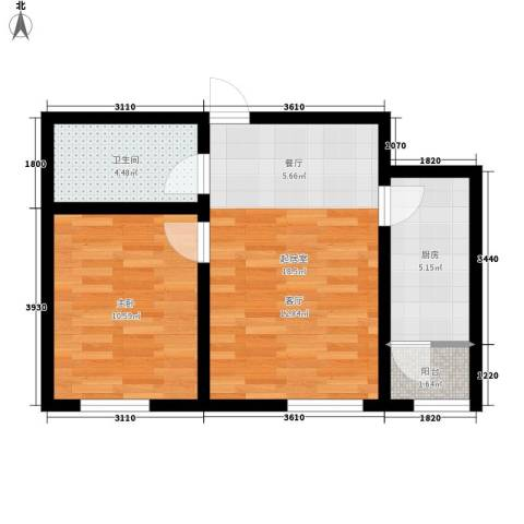 阳光嘉城三期1室0厅1卫1厨46.97㎡户型图