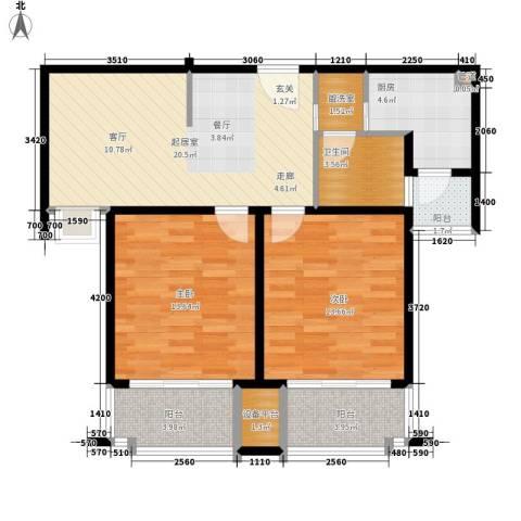 东朝静园2室0厅1卫1厨98.00㎡户型图