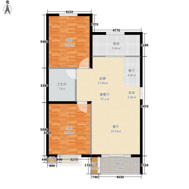 紫澜香郡100.01㎡高层D户型2室2厅