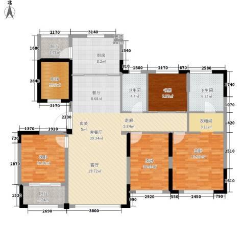 雅戈尔明洲4室1厅2卫1厨163.00㎡户型图
