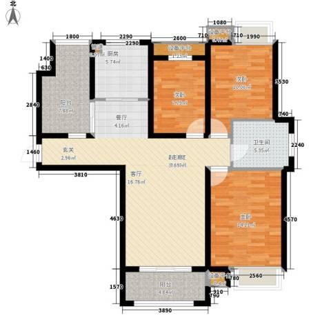 米兰浅山郡3室0厅1卫1厨104.00㎡户型图