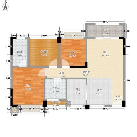 龙凤春晓2室0厅2卫1厨103.00㎡户型图