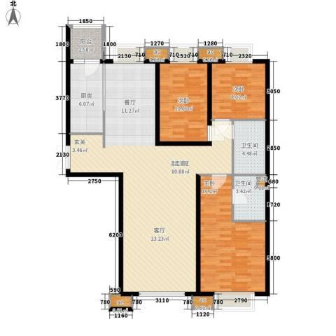 宇济红瓦苑3室0厅2卫1厨144.00㎡户型图