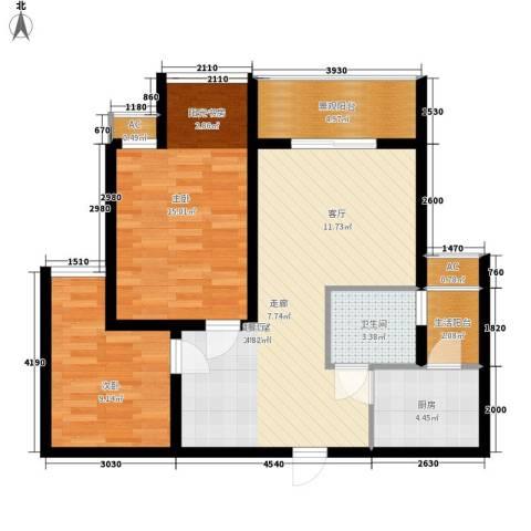 和坤和家园2室0厅1卫1厨68.00㎡户型图