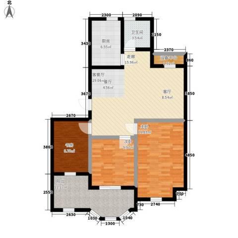 金世纪铭城华庭3室1厅1卫1厨99.00㎡户型图