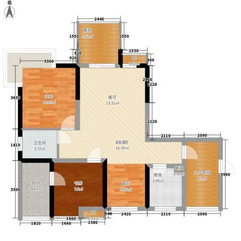 和坤和家园2室0厅1卫1厨73.75㎡户型图