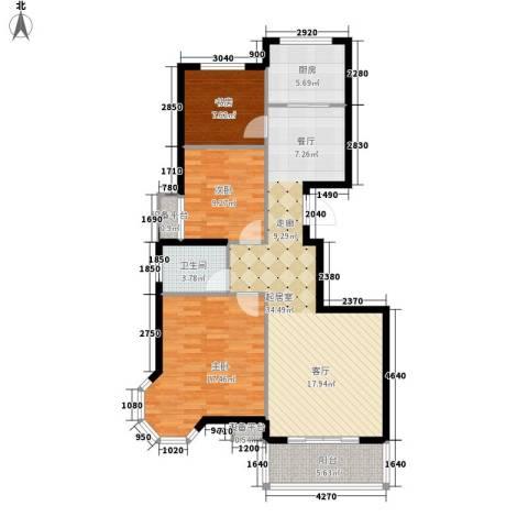 新城国际・兰溪谷3室0厅1卫1厨120.00㎡户型图