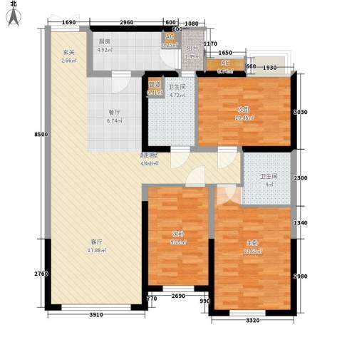群富里3室0厅2卫1厨131.00㎡户型图