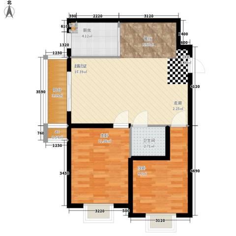 海光苑2室0厅1卫1厨86.00㎡户型图