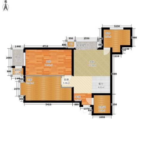 海光苑2室0厅1卫1厨93.00㎡户型图