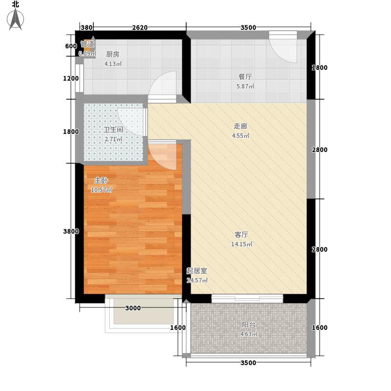 置地·御海公馆66.41㎡御海公馆Cd户型1室2厅