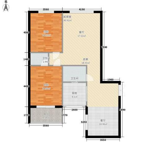 万丰碧云豪庭2室0厅2卫1厨103.00㎡户型图