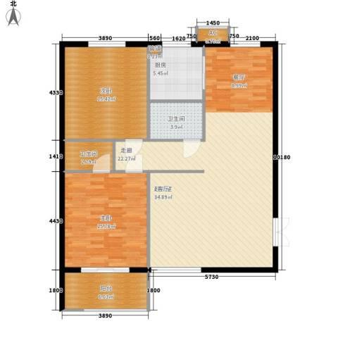 万丰碧云豪庭2室0厅2卫1厨106.00㎡户型图