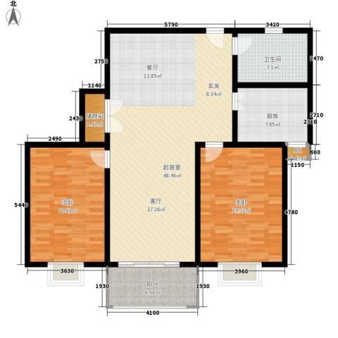 新和园2室0厅1卫1厨122.00㎡户型图