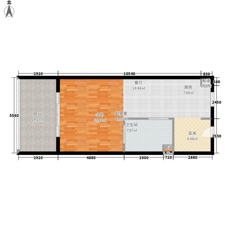 合景·月亮湾80.00㎡合景&#8226月亮湾公寓C户型