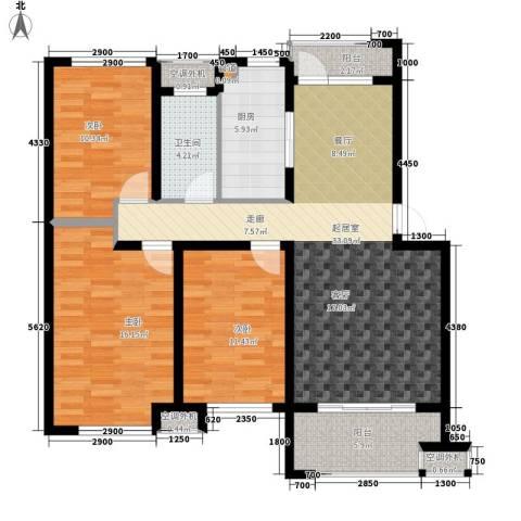 时代阳光3室0厅1卫1厨109.00㎡户型图