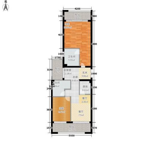 官塘万万泉2室0厅2卫1厨95.50㎡户型图