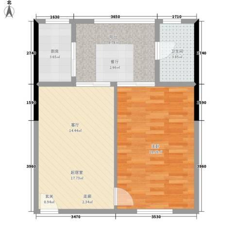 君悦春江花园1室0厅1卫1厨74.00㎡户型图