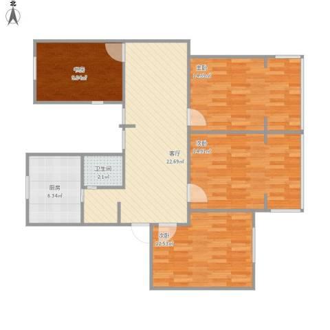 金桥湾清水苑4室1厅1卫1厨111.00㎡户型图