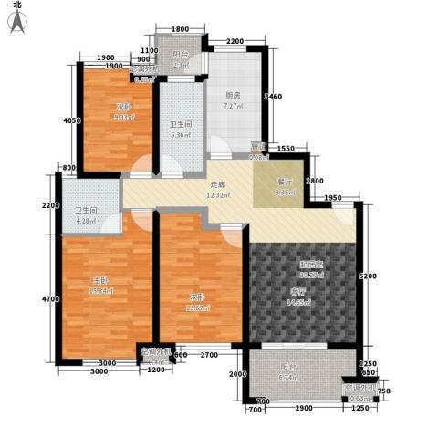 时代阳光3室0厅2卫1厨127.00㎡户型图