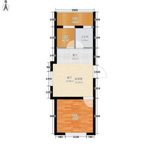 梧桐花园小区1室0厅1卫1厨45.00㎡户型图