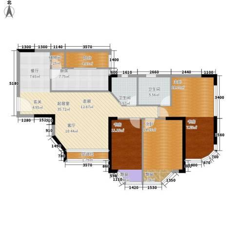 西亚怡顺佳苑3室0厅2卫1厨112.00㎡户型图