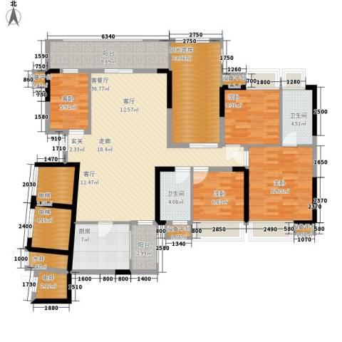 荟雅名苑4室1厅2卫1厨180.00㎡户型图