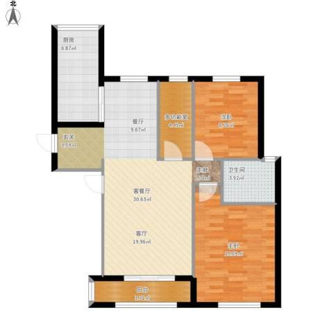 首创・象墅2室1厅1卫1厨103.00㎡户型图