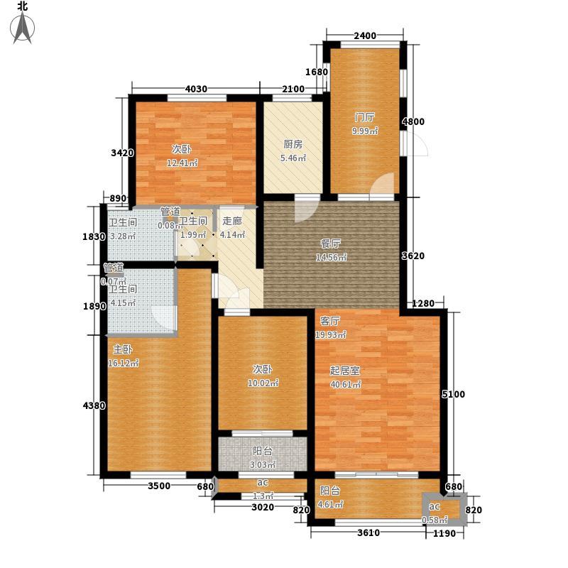 紫林湾135.00㎡12号楼洋房户型3室2厅