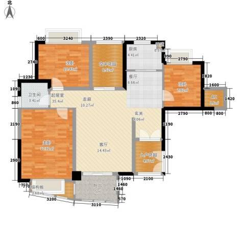 华融琴海湾3室0厅1卫1厨119.00㎡户型图