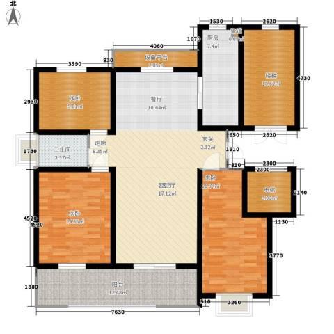卓越玫瑰园3室1厅1卫1厨121.00㎡户型图