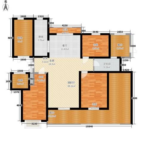 卓越玫瑰园3室1厅1卫1厨152.12㎡户型图
