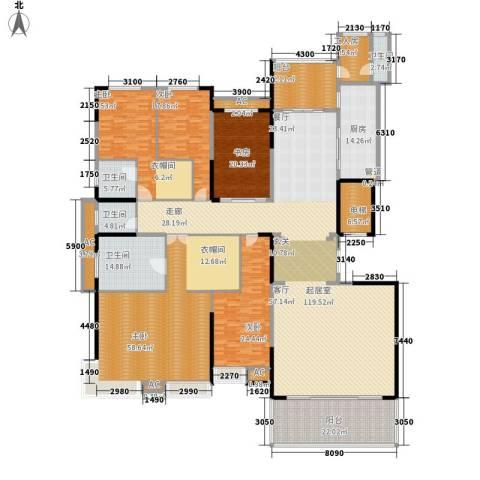 洛阳碧桂园5室0厅4卫1厨500.00㎡户型图