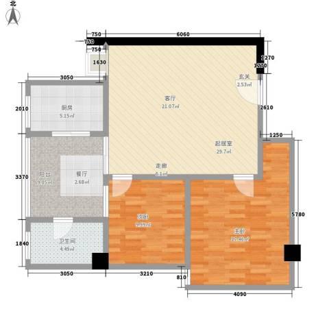 君悦春江花园2室0厅1卫1厨85.00㎡户型图