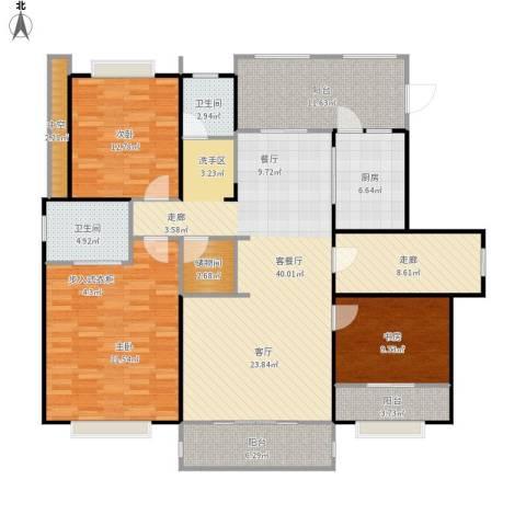 和协风格尚品3室1厅2卫1厨181.00㎡户型图