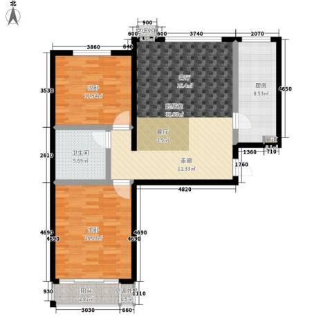 博鑫翰城2室0厅1卫1厨89.00㎡户型图