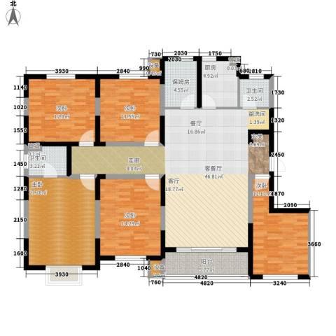 建发滨湖家园5室1厅2卫1厨196.00㎡户型图