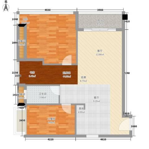 碧桂园空港国际2室0厅1卫0厨92.00㎡户型图