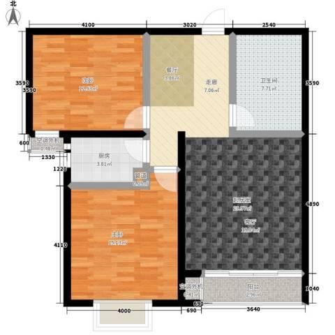 博鑫翰城2室0厅1卫1厨84.00㎡户型图