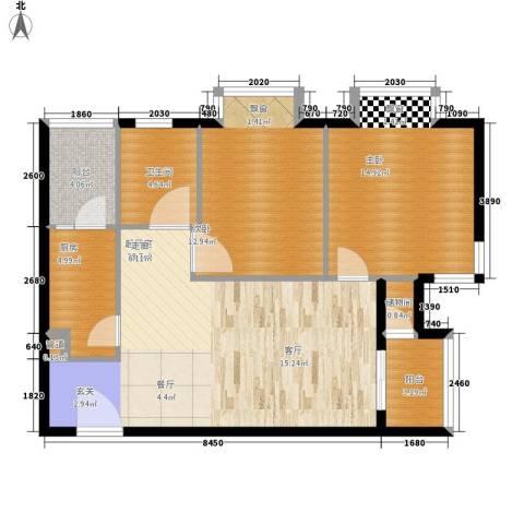 佳龙・大沃城2室0厅1卫1厨84.00㎡户型图