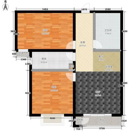 博鑫翰城2室0厅1卫1厨92.00㎡户型图